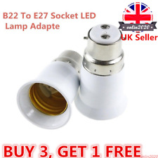 LED Light Lamp Bulb Base Cap B22 To E27 Edison Screw Fitting Adapter/Converter