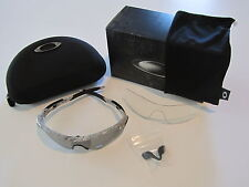 New Oakley Radarlock Path Sunglasses Fingerprint White Black Polarized OO9181-44