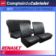 Garnitures sièges avant et banquette arrière pour Renault 4L en simili cuir noir