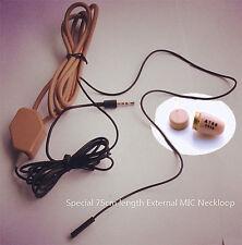 Micro Invisible spy Earpiece Hidden covert Earphone With 75cm Neckloop