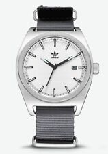 NEW IN THE BOX ADIDAS PROCESS_W2 , 40 MM SILVER / BLACK / GRAY MEN'S WATCHE