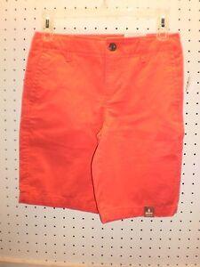 ARIZONA Boy's 8 H Coral FLAT Front CHINO Adj Waist Cotton Shorts FREE Shpg NWTA