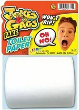 ULTIMATE BATHROOM JOKE!  FAKE ROLL OF TOILET PAPER, NO PERFORATION DOEN NOT RIP