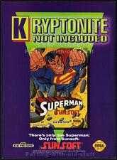 SUPERMAN__Original 1992 print AD / game promo__SEGA GENESIS / SUNSOFT advert