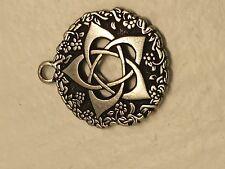 Stainless Steel Hexagram Talisman Amulet Wicca Pendant