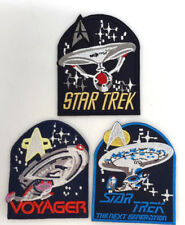Vintage Star Trek TOS/NG/Voyager Logo Patch w Ship Collection- Your Choice of 3