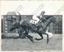 1945 Belmont Park Quonset  Spills Sending Jockey A Scott Hurtling Press Photo