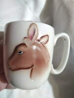 Mug Coffee Cup VTG 1950's Novelty Political Gift I'm Democrat Donkey Vote C161