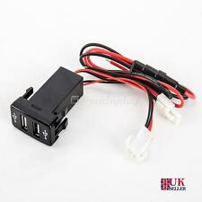 Car Socket Lighter Charger Adapter Double Twin Dual 2 USB Port 12V for Toyota