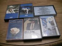 Elton John 6 Cassette Lot: Greatest Hits 1 and 2, Breaking Hearts