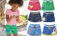 Mini Boden Shorts applique jersey girls blue pink green 3 4 5 6 7 8 9 10 11 12