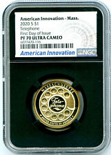 2020 S $1 MASSACHUSETTS NGC PF70 PROOF INNOVATION DOLLAR FIRST DAY ISSUE