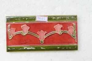 Japan antique art nouveau vintage majolica border tile c1900 NH4351