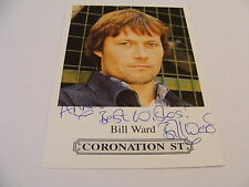 BILL WARD  Signed CORONATION STREET Cast Card Photo Autograph  Emmerdale
