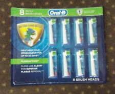 NEW SEALED Genuine Oral-B Braun Floss Action Replacement Toothbrush Heads 8 PK.