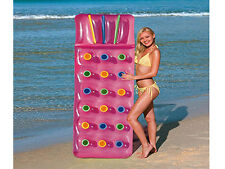 "PINK 18 PKT INFLATABLE BEACH SWIMMING POOL LOUNGER LILO AIR BED RELAX 74""X28"""