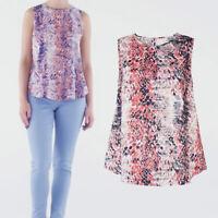 Avon Womens Ladies Snakeskin Animal Print Summer Shell Top Blouse Size 18 20