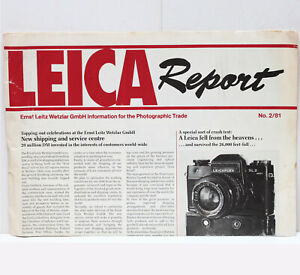 Ernst Leitz Wetzlar GmbH Leica Report No. 2/81 RARE