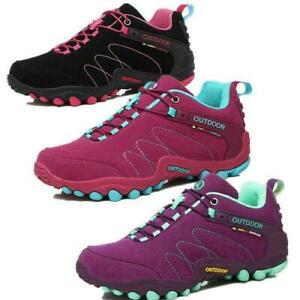 Women Hiking Boots Suede Leather Lightweight Outdoor Waterproof  Travel Shoes