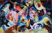 Wassily Kandinsky Improvisation Deluge Giclee Canvas Print Paintings Poster Repr