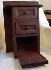 ANTIQUE Country PRIMITIVE Wall CABINET