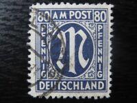 GERMANY OCCUPATION ZONES Mi. #34 scarce used AMG stamp! CV $360.00
