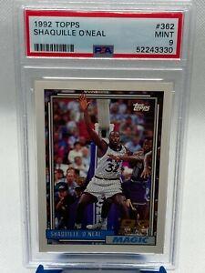 1992-93 Topps Shaquille O'Neal RC PSA 9 #362 - Rookie Card, Magic, Shaq