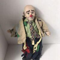 Collectable Dynasty Doll Clyde Jr. Hobo Clown (Right Shoe Bottom Broken Pieces P