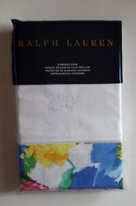 Ralph Lauren STANDARD Sham Ashlyn Lizbeth Floral Blue Mult Cotton 20 x 28 $115