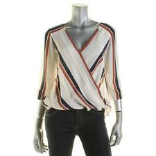 Sanctuary 9171 Womens Ivory Silk Striped Tunic Blouse XS BHFO
