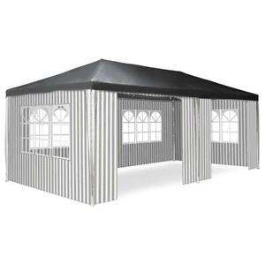Pavillon Partyzelt Raucherzelt anthrazit 3x6m PE 110g/m² Festzelt Eventzelt grau