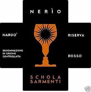 12 BT NERIO ROSSO RISERVA NARDO' Doc 2016 Schola Sarmenti
