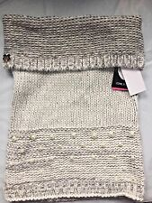 Betsey Johnson Cowl Scarf. Ivory with faux Pearls and metallic.  NWT. One Size