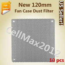 10pcs 120mm Computer PC Cooler Fan Case Cover Dust PVC Filter Mesh with 40 screw