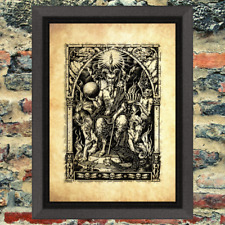 Demon Satan Throne Lucifer Beast Art Print Antique Effect Paper Buy 2 Get 1 Free