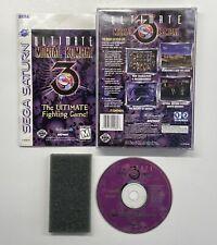 Ultimate Mortal Kombat 3 (Sega Saturn, 1996) COMPLETE VG w Registration Card!!
