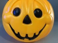 General Foam Halloween Blow Mold Pumpkin Goofy Candy Pail Jack-o-lantern Bucket