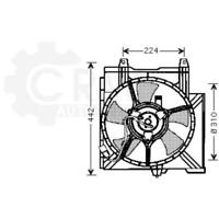 Fan Engine Cooling Radiator Fan Blower Motor For Nissan Micra II