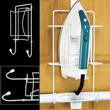 Home Iron Holder Wall Mounted Bracket Rest Dock Organiser Safe Store Tidy Hanger