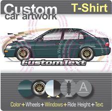 Custom T-shirt 1993 94 1994 jdm 1995 96 1997 Toyota Corolla E100 DX Sedan AE101