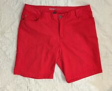 Avenue Denim Womens 18 Red Solid Denim Shorts 2% Spandex Excellent!