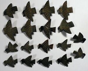 Vtg JHB International Deepeeka BUTTONS Frontier Tribal Native EAGLE Bird 2 Sizes