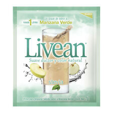 Livean Drink Mix~Green Apple Flavor Sweetened w/ STEVIA~7g ea. Get 10 pk's
