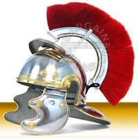 Medieval Helmet Roman Centurion Helmet with Plume Medieval SCA & LARP