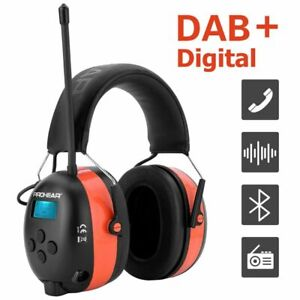 Electronic Ear Muff Noise Reduction Bluetooth Rechargeable Shooting Hunting 25dB