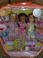 2005 BARBIE WEE 3 FRIENDS JANET,STACIE & LILA DREAM! DREAM! DREAM! DOLL SET OF 3