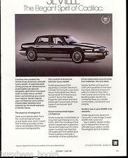 1987 CADILLAC SEVILLE advertisement, Cadillac ad, Seville sedan
