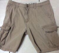 Men's Old Navy Cargo Khaki Shorts Beige Tan 34