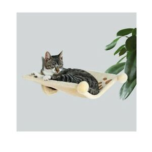 Trixie Plush Cat Hammock Style Wall Mounted Pet Cuddly Bed Nest | 41x42cm| Beige