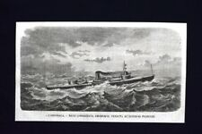 L'Onondaga, nave corazzata americana, venduta alla Francia Incisione del 1868